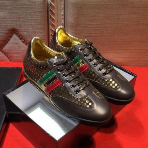 acheter chaussures dolce gabbana sport leather coffee color