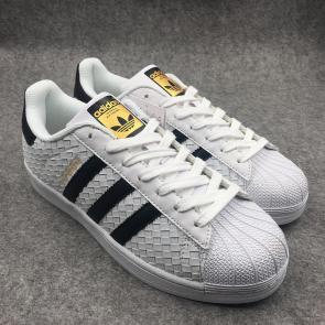 adidas originals baskets superstar classics leather face knitting white