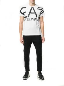 armani jeans t-shirt big ea7 white