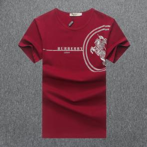 burberry t-shirt design pour hommes half round red