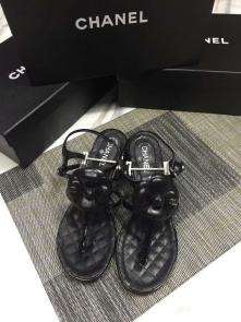 chanel sandals femme italy  beach shoes camellia black
