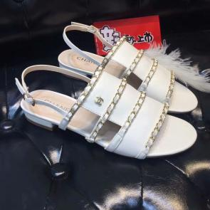 chanel sandals femme italy  sandals cowhide chain