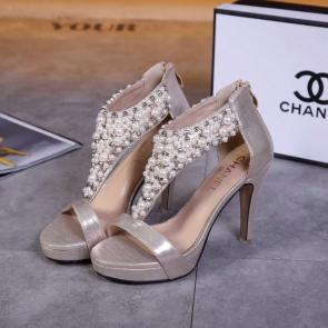 chanel sandals femme italy  sandals high heeled pearl