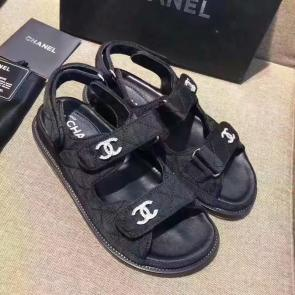 chanel sandals femme italy  sandals sports shoes black