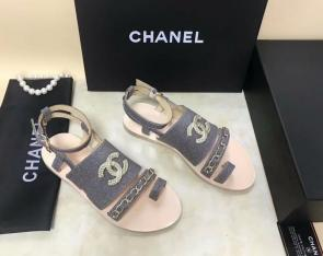 chanel sandals femme italy  sandals chain gray