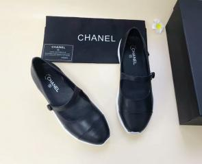 chanel chaussures wome price single chaussures one word buckle black