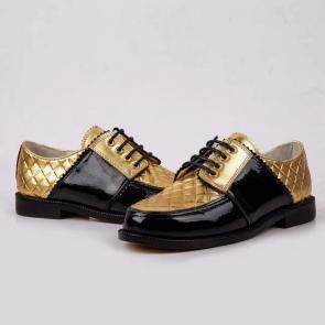 chanel shoes wome price leather shoes retro gold