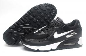 chaussure nike air max 90 black whiteleather gray blue