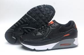 chaussure nike air max 90 leather noir grisleather gray blue