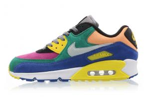 chaussure nike air max 90 qs viotech blue orange suede