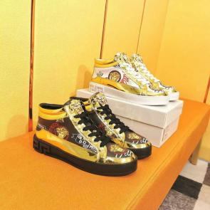 chaussure versace garcon promo mid gold