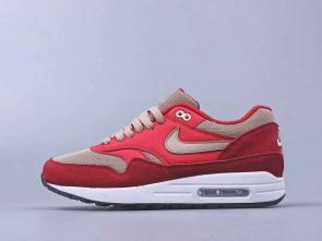 chaussures de course homme nike air max 87 suede pink red