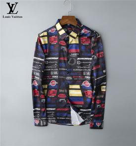 chemise louis vuitton manche courte many logo  colorway
