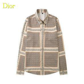dior shirts long sleeve beige grid