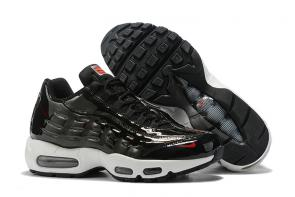 discount nike air max 95 by christian cheap smooth black white man