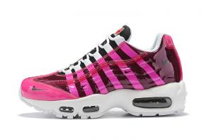 discount nike air max 95 women by christian cheap stripe red women