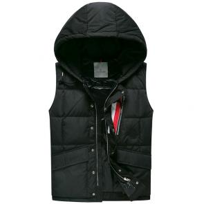 doudoune moncler sans hommesches homme hooded vest  autumn winter black