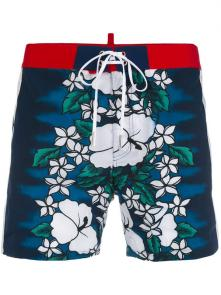 dsquared shorts 2018 casual dressing flower blue