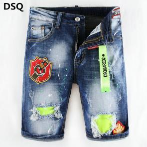 dsquared2 jeans short biker maple leaf