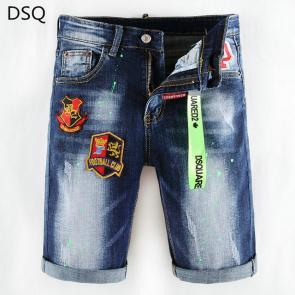 dsquared2 jeans short biker lion