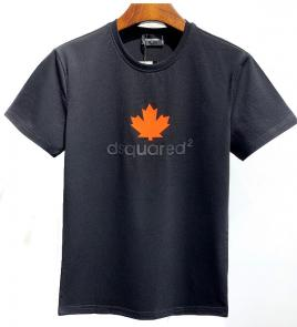 dsquared2 t-shirt new collection classic leaf noir