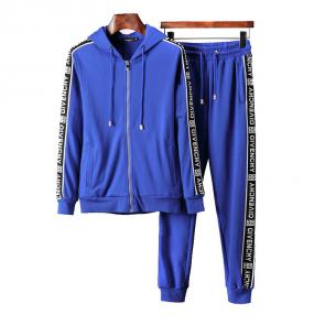 ensemble Tracksuit givenchy homme hoodie blue
