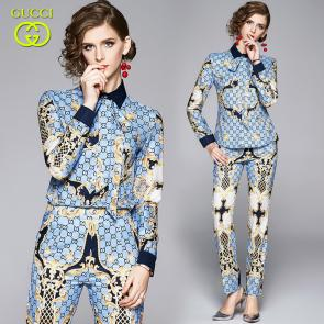 ensemble Tracksuit women gucci floral printed silk propitious cady crepe shirt