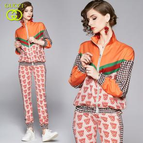 ensemble Tracksuit women gucci tiger head jogging suit zip