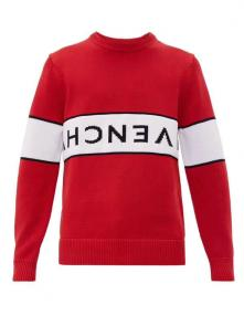 givenchy pull en laine multicolore discount reverse-logo cotton red