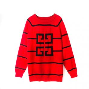 givenchy pull en laine multicolore discount givenchy logo rouge women