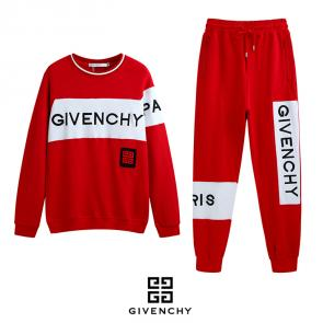 givenchy paris jogging red embroidery logo