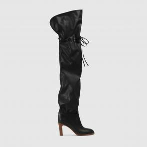 gucci 2018 lisa boots soft leather black
