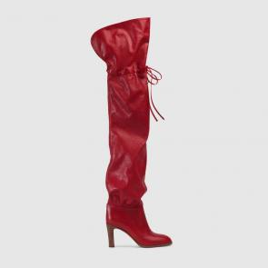 gucci 2018 lisa boots soft leather red
