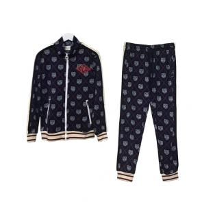 gucci blouson pantalon de survetement tricot jacquard tigre