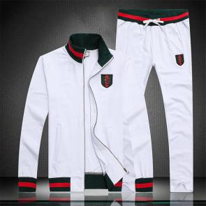 gucci blouson pantalon de survetement serpent blanc