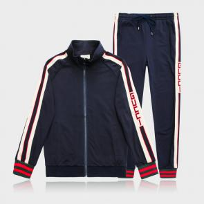 gucci blouson pantalon de survetement shoulder logo blue