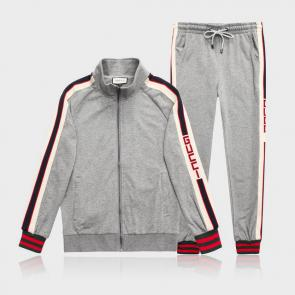gucci blouson pantalon de survetement shoulder logo gray