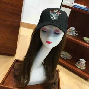 gucci cap supreme gg a imprime embroidery cat head black
