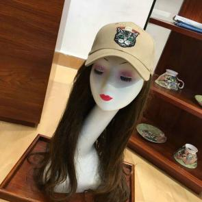 gucci cap supreme gg a imprime embroidery cat head khaki