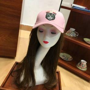 gucci cap supreme gg a imprime embroidery cat head pink