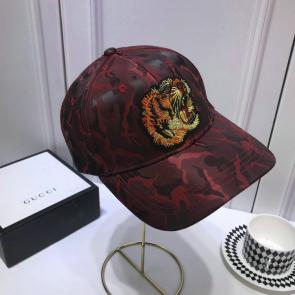 gucci cap supreme gg a imprime camouflage tiger head red