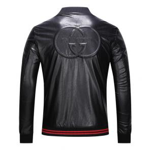 gucci embroidered leather jacket cuir peluche