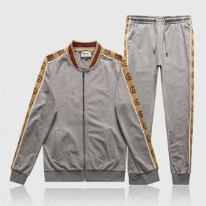 gucci tracksuit mens cheap gold gg gray