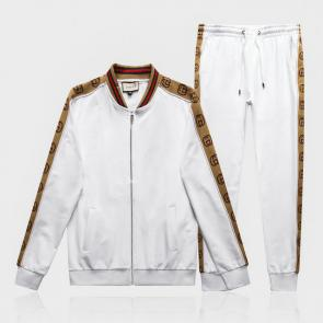 gucci tracksuit mens cheap gold gg white