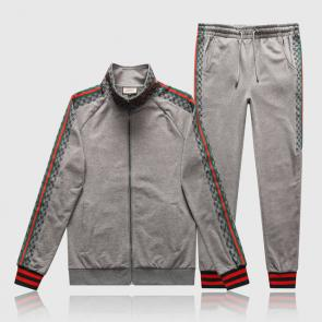 gucci tracksuit mens cheap shoulder gg gray