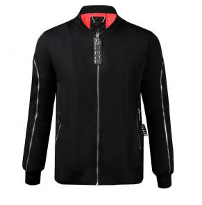 homme philipp plein bomber jacket new shoulder zipper