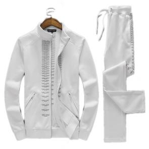 homme jogging armani ea7 Tracksuit flying eagle white