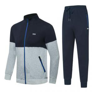 hugo boss jogging tracksuit cotton blue gray