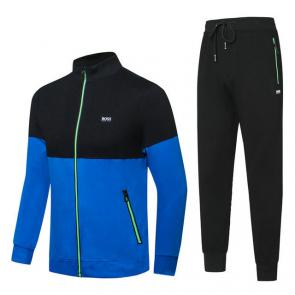 hugo boss jogging tracksuit cotton blue hiver