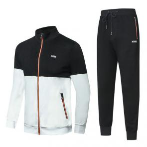 hugo boss jogging tracksuit half top noir